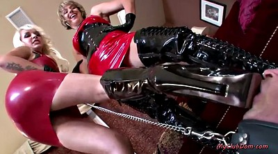 Latex, Mistress, Foot femdom, Femdom mistress, Big feet