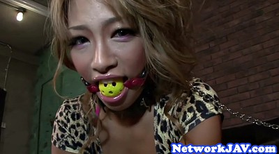 Japanese milf, Gagging