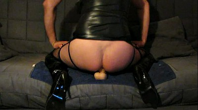 Latex, Hip, Mask, Boot, Riding dildo, Hips