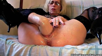 Pussy fisting, Gaping pussy, Pussy gaping, Granny fisting, Wide, Granny lingerie