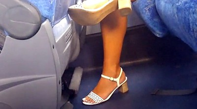 Foot, Bus, Milf foot
