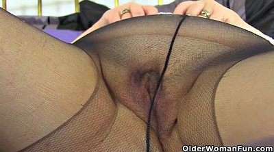 Strip, Nylon milf, Ebony granny