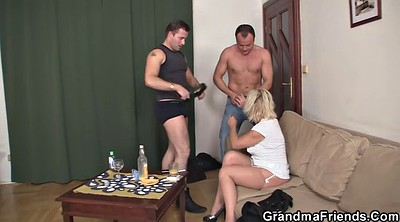 Granny, Hot granny, Granny threesome, Big mature, Hot wife, Wife two
