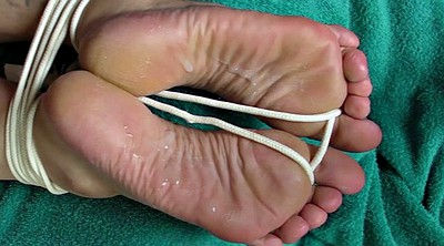Feet cum, Tied feet, Sole, Blindfolded