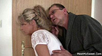 Dad, Old mom, Trick, Teen mom, Old dad, Mature milf