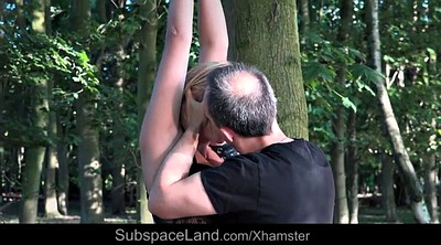 Screaming, Painful, Teen slave, In the woods