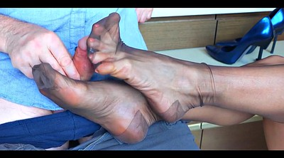 Stocking footjob, Nylon footjob, Nylon feet, Stockings feet, Stockings footjob, Footjob nylon