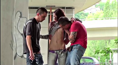 Teen group, Outdoor gangbang