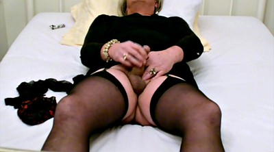 Bondage-orgasm, Stockings masturbation, Self bondage