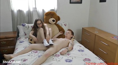 Teen footjob, Solo girl