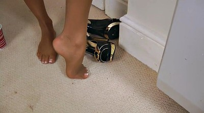 Foot tease, Pantyhose foot, Foot pantyhose