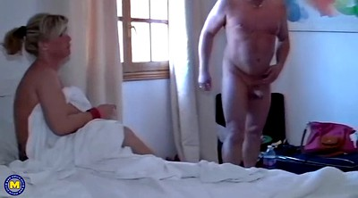 Family, German milf, Threesome milf, Happy, German granny, Family threesome