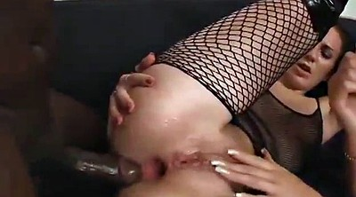 Gaping, Interracial threesome, Anal fingering