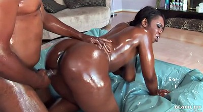 Oiled, Big butt creampie, Big tits mature