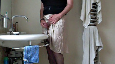 Crossdress, Crossdressing, Big cum