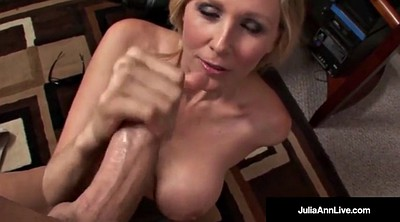 Julia ann, Julia, Mature facial, Office mature