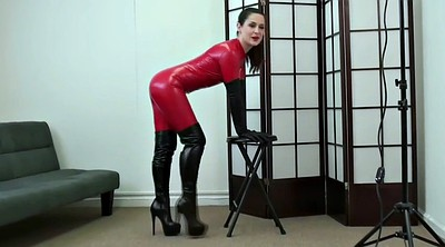 Boot, Catsuit, Red