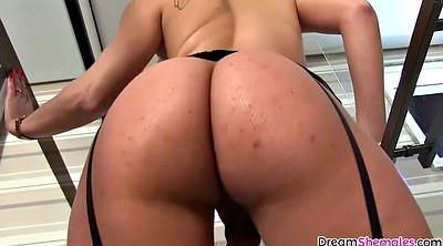 Shemales, Sexy ass, At home, Teasing, Brazilian shemale, Take a shower