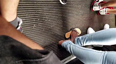 Bus, Candid, Candid feet, Footing