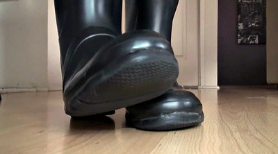 Boots, Boot, Rubber, Rubber latex, Fetish foot, Rubber boots