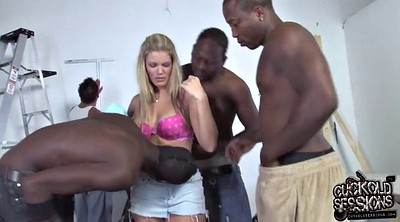 Wife group, Husband and wife, Black cuckold, In front of husband, Husband wife, Black milf