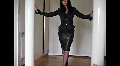 Leather, Stiletto, Latex mature, Femdom mature