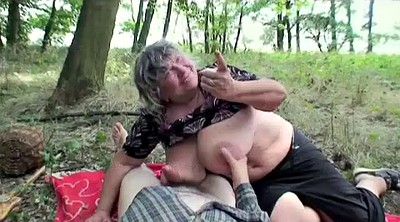 Bbw granny, Forest, Chubby mature