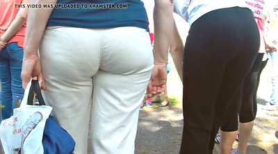 Pants, White mature, Pant, Hidden cam mature, Big white ass