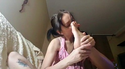 Webcam, Feet lick, Russian homemade, Feet licking