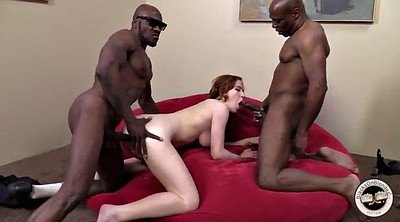 Double anal, Shaved, Black big cock, Blacked anal