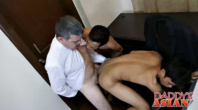 Young cock, Asian old, Twink, Asian daddy, Two cock