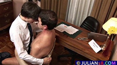 Student, Twinks, Big dick, Gay office, Gay spanking