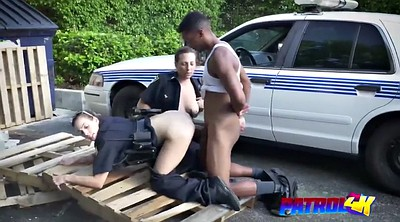 Abused, Ebony threesome, Black cock