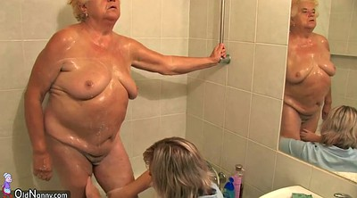 Granny lesbians, Hairy lesbians, Private, Hairy shower