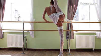 Teen stockings, Flexible, Stockings solo