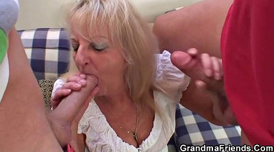 Old old, Threesome mature, Granny party