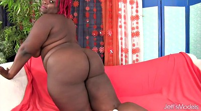 Big dildo, Vibrator, Thick, Masturbation girl, Ebony bbw, Used