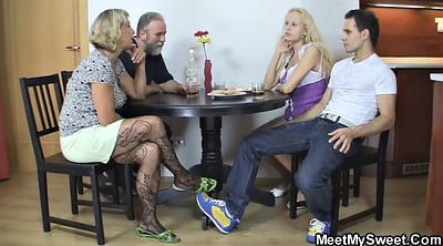 Old couple, Teen threesome, Couple threesome