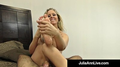 Julia ann, Mature feet, Feet pov, Hot feet