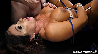 Gangbang, Fake, Matures with big tits, Big tits creampie