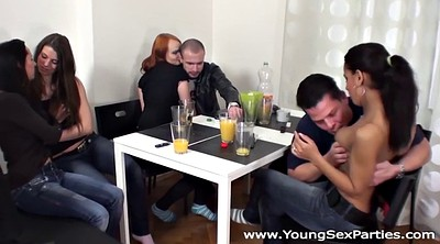 Redhead, Older, Young sex party