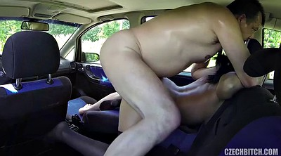 Taxi, Czech taxi, Hard nipples, Czech public, Czech old