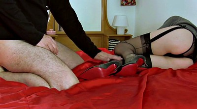 Nylon, Nylon feet, Nylon footjob, Mature feet