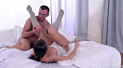 Satin, Morning sex, Feet lick, Foot sex