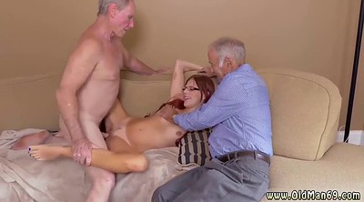 Old man, Cuckold, Young threesome