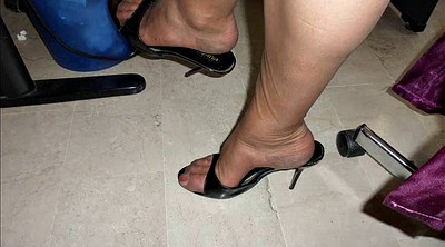 Shoes, Nylon feet, Nylons, Office foot, Nylon foot, Office nylon