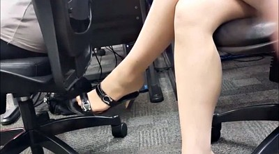 Nylon foot, Legs, Candid