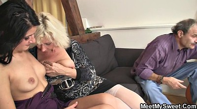 Teach, Mom teach, Mom licking, Old pussy, Mom lick