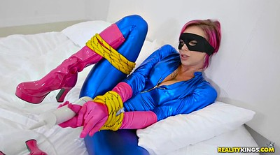 Boots, Peeing, Heroine, Gloves, Bondage squirt, Tied up