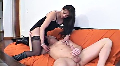 Tranny on tranny, Shemale fucks guy